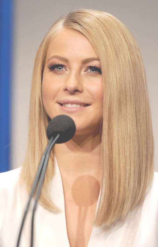 Julianne Hough Lob Hairstyle – Long Straight Bob Hairstyle For With Regard To Straight Long Bob Hairstyles (View 20 of 25)