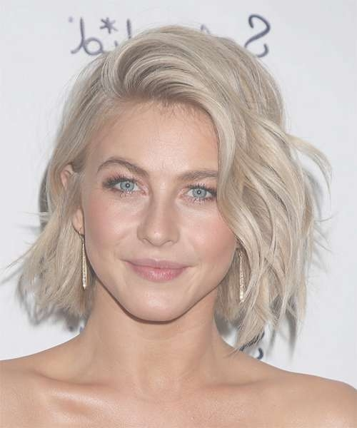 Julianne Hough Medium Wavy Casual Hairstyle - Light Blonde intended for Recent Julianne Hough Medium Hairstyles