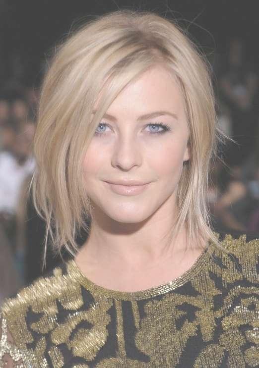 Julianne Hough Shoulder Length Bob Haircut For Straight Hair throughout Most Recent Julianne Hough Medium Haircuts