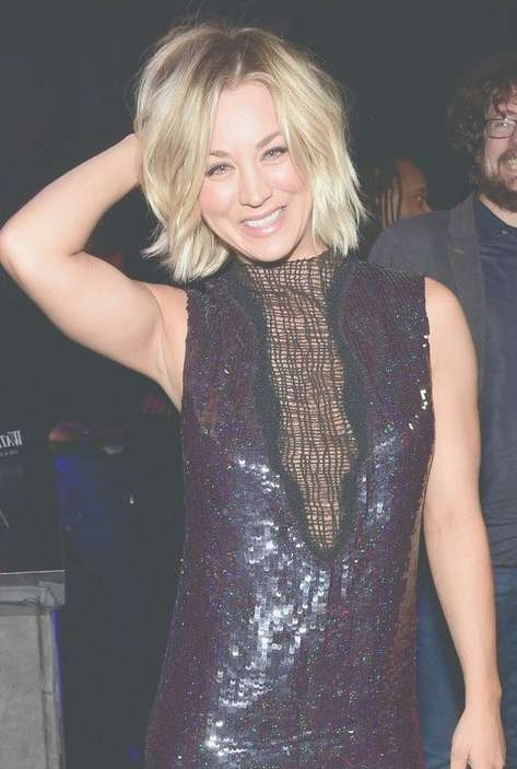 Kaley Cuoco Hair, Hairstyle, Haircut, Hair Color – Trendy Celeb Inside Latest Kaley Cuoco New Medium Haircuts (View 18 of 25)