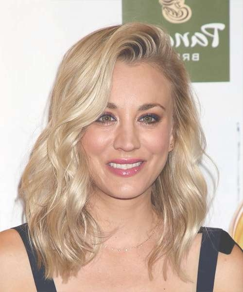 Kaley Cuoco Hairstyles In 2018 For 2018 Kaley Cuoco Medium Hairstyles (View 8 of 15)