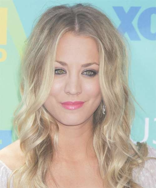 Kaley Cuoco Long Wavy Casual Hairstyle – Medium Blonde (Ash) With Regard To Best And Newest Kaley Cuoco Medium Hairstyles (View 12 of 15)