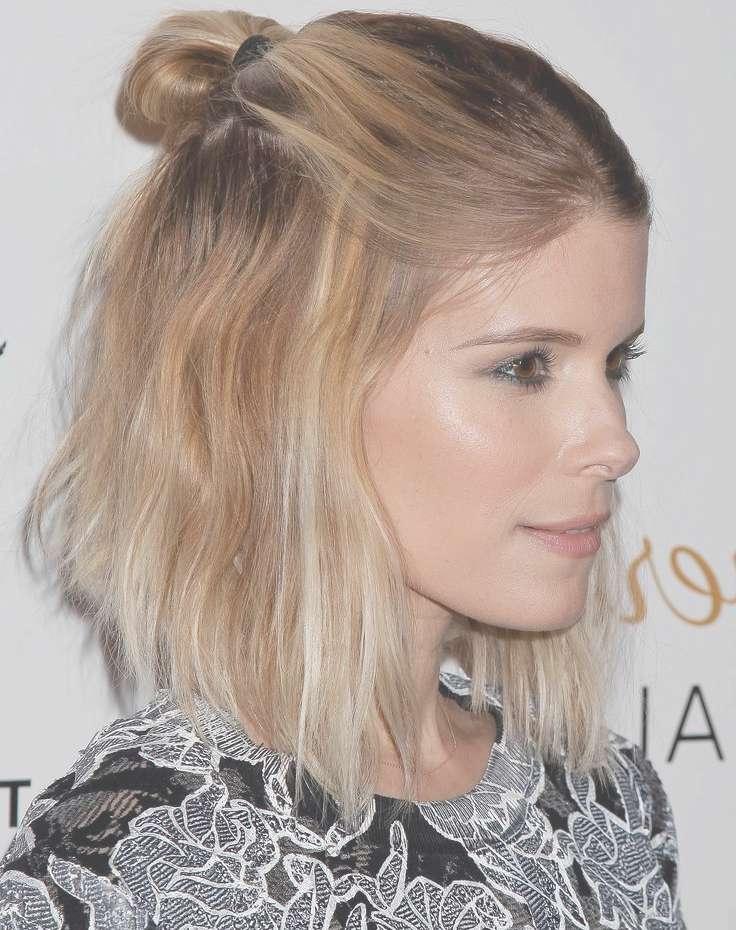 Kate Mara Half Updo Bob Haircuts 2015   Full Dose With Regard To Updos For Bob Haircuts (View 6 of 25)