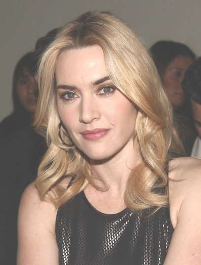 Kate Winslet Shoulder Length Hairstyle – Popular Haircuts With Regard To Most Recent Center Part Medium Hairstyles (View 18 of 25)