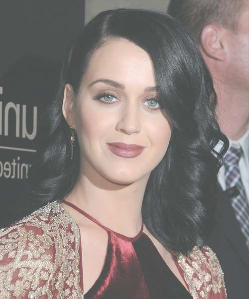 Katy Perry Medium Wavy Formal Hairstyle – Black (Ash) Hair Color Intended For Current Katy Perry Medium Hairstyles (View 17 of 25)