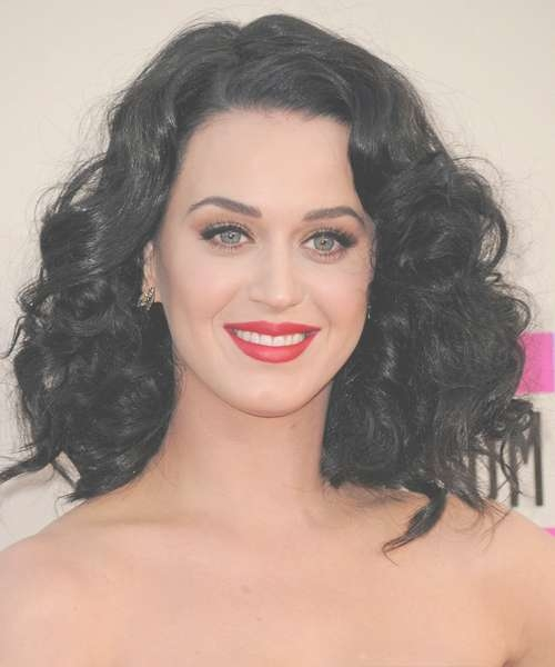 Katy Perry Medium Wavy Formal Hairstyle – Black Hair Color With Newest Katy Perry Medium Hairstyles (View 16 of 25)