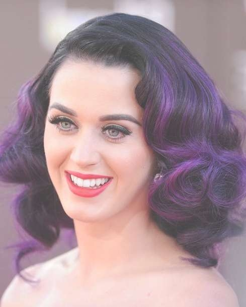 Katy Perry Trendy Curly Hairstyle For Medium Hair – Popular Haircuts With Regard To Best And Newest Katy Perry Medium Hairstyles (View 21 of 25)