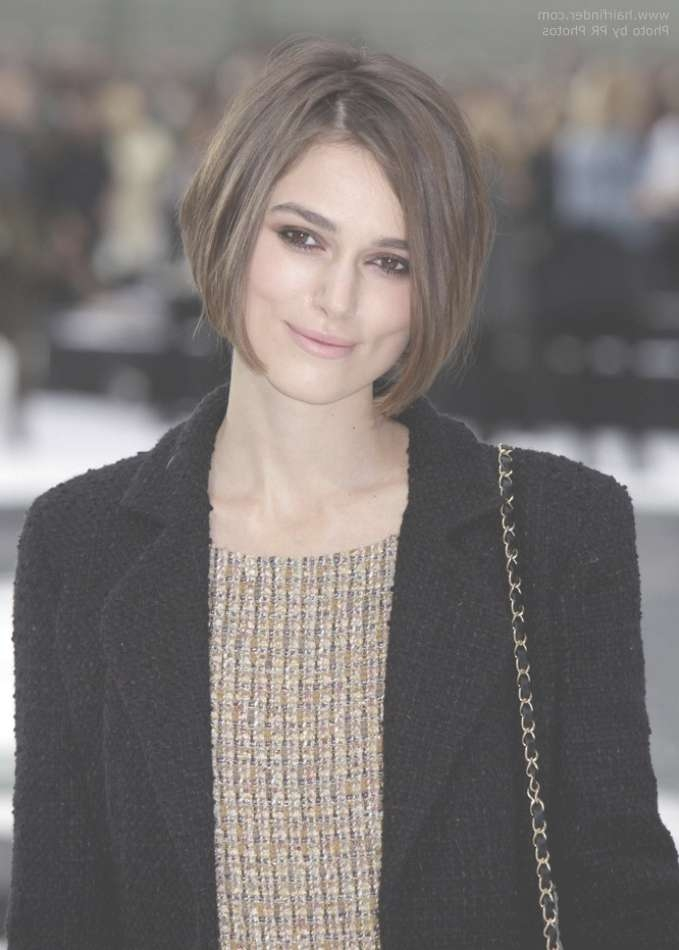 Keira Knightley With Her Short Bob With Angled Sides Throughout Keira Knightley Bob Haircuts (View 16 of 25)