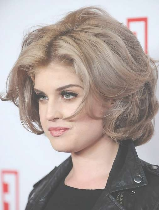 Kelly Osbourne Hairstyles: Mid Length Curly Hairstyle – Popular Intended For Newest Kelly Osbourne Medium Haircuts (View 8 of 25)