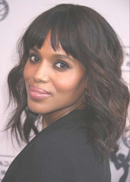 Kerry Washington Soft Waves Haircuts For Medium Hair – Popular With Best And Newest African American Medium Hairstyles (View 12 of 25)