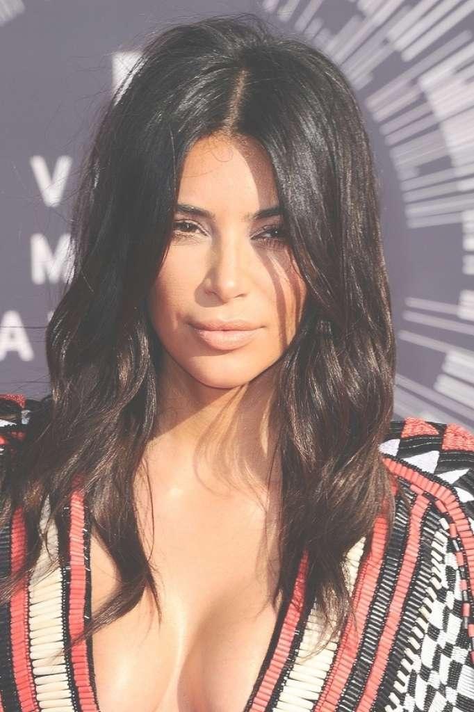 Kim K Shoulder Length Hair Shoulder Length Haircuts Kim Kardashian Regarding Best And Newest Kim Kardashian Medium Hairstyles (View 20 of 25)