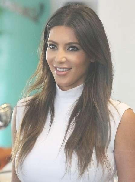 Kim Kardashian Casual Brown Long Haircuts – Popular Haircuts With Regard To Recent Kim Kardashian Medium Hairstyles (View 7 of 25)