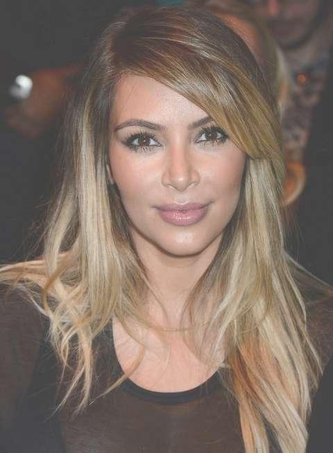 Kim Kardashian Hairstyles: 2014 Ombre Layered Haircut – Pretty Designs Intended For Current Kim Kardashian Medium Haircuts (View 23 of 25)