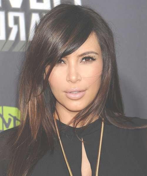 Kim Kardashian Long Straight Formal Hairstyle Inside Recent Kim Kardashian Medium Hairstyles (View 15 of 25)