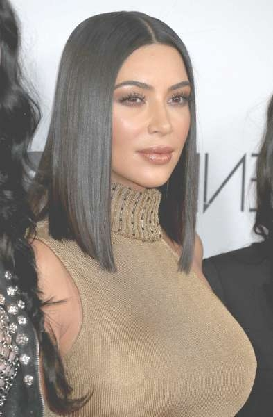 Kim Kardashian Medium Straight Cut – Kim Kardashian Hair Lookbook With Regard To Most Recent Kim Kardashian Medium Hairstyles (View 6 of 25)