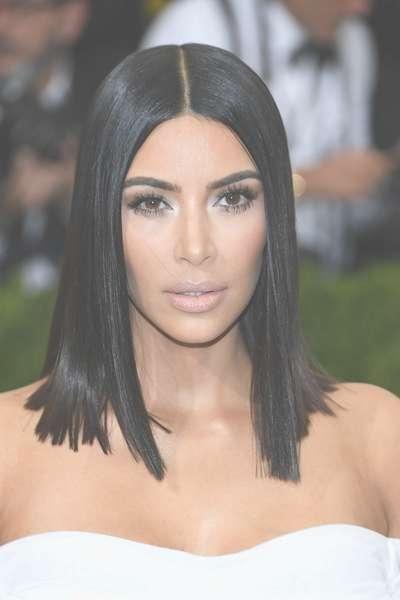 Kim Kardashian Medium Straight Cut – Kim Kardashian Shoulder Throughout Latest Kim Kardashian Medium Hairstyles (View 16 of 25)