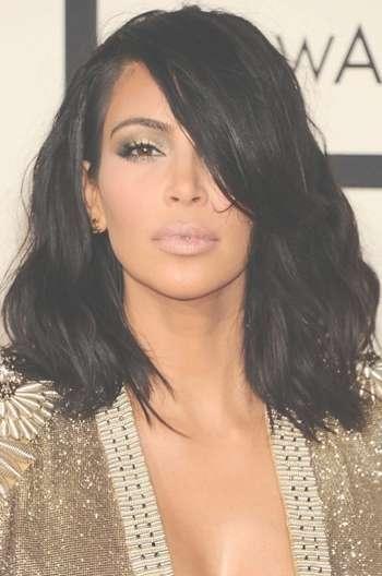 Kim Kardashian Shoulder Length Haircut Messy Bob Human Hair Lace Intended For Newest Kim Kardashian Medium Hairstyles (View 10 of 25)