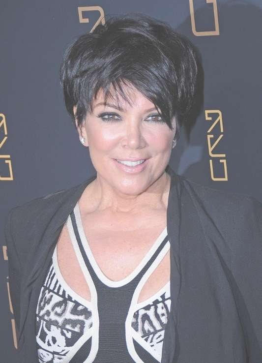 Kris Jenner Layered Razor Cut – Hairstyles Weekly With Most Recently Kris Jenner Medium Hairstyles (View 14 of 15)