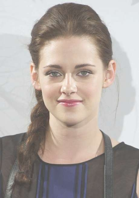 Kristen Stewart Braided Hairstyle For Long Hair – Popular Haircuts Inside Current Kristen Stewart Medium Hairstyles (View 13 of 15)