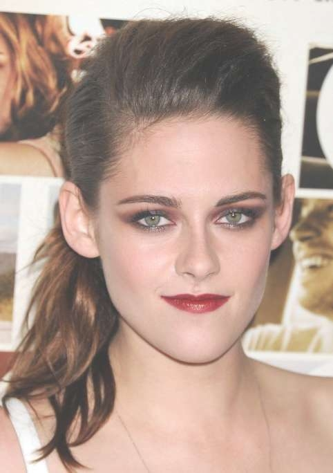 Kristen Stewart Ponytail Hairstyles – Popular Haircuts Inside Most Popular Kristen Stewart Medium Hairstyles (View 8 of 15)