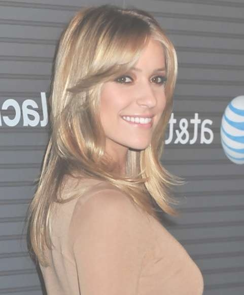 Kristin Cavallari Long Hairstyle: Layered Haircut For Office Lady Inside Most Current Kristin Cavallari Medium Hairstyles (View 8 of 15)