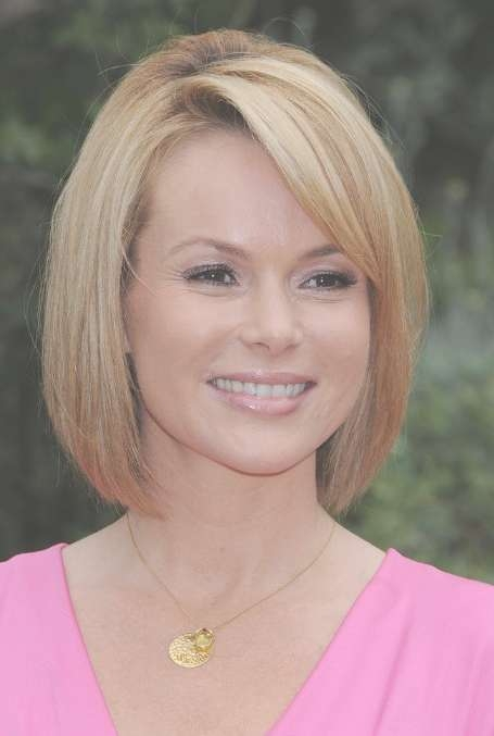 Latest Cute Short Straight Bob Hairstyle With Bangs For Women Pertaining To Straight Bob Hairstyles (View 13 of 25)