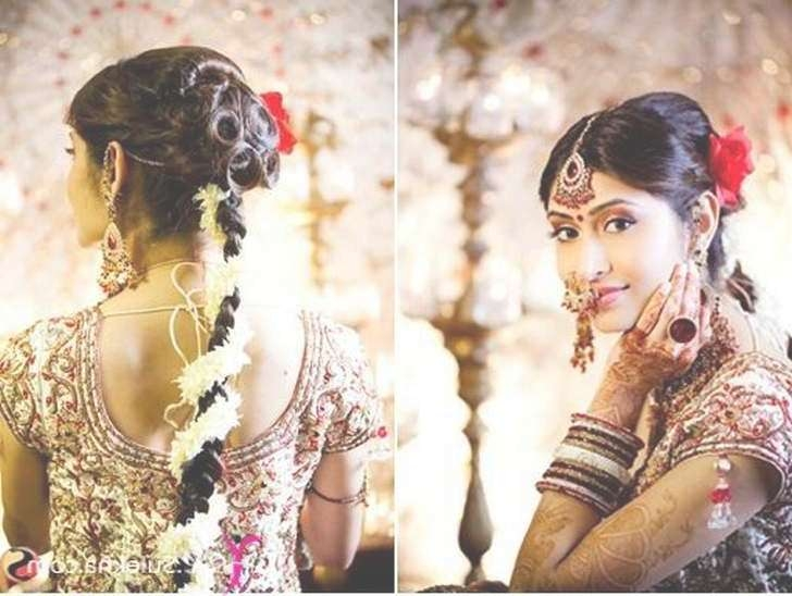 Latest Indian Bridal Hairstyle | Medium Hair Styles Ideas – 17146 With 2018 Indian Bridal Medium Hairstyles (View 19 of 25)