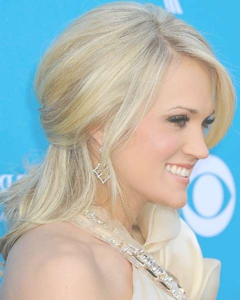 Latest Long Blonde Half Up Half Down Wedding Hairstyles Pertaining To Half Up Half Down Bob Haircuts (View 13 of 25)
