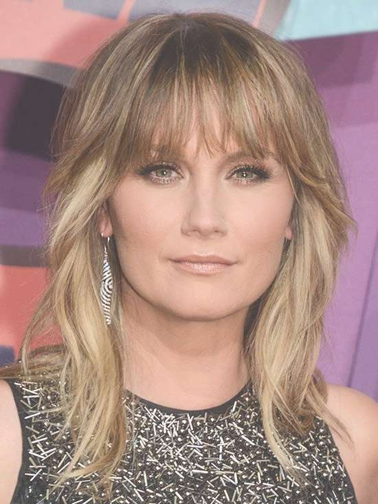 Latest Medium Length Layered Cuts With Bangs 2017 With Regard To Most Up To Date Medium Haircuts With Wispy Bangs (View 14 of 25)