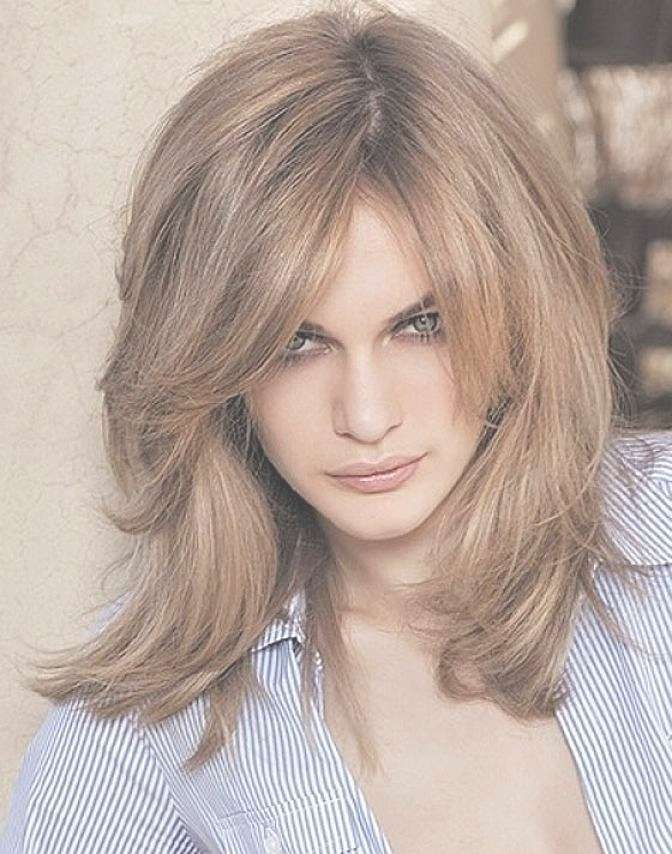 Layered Haircuts With Side Bangs For Medium Hair 2017 Regarding Current Medium Haircuts With Side Bangs (View 23 of 25)