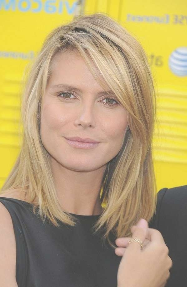 Layered Haircuts With Side Bangs Medium Length Inside Most Recently Medium Haircuts Side Bangs (View 4 of 25)