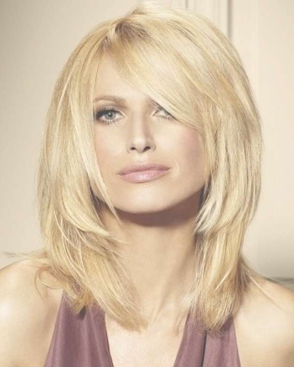 Layered Hairstyles For Thick Hair – Women Hairstyles Intended For Best And Newest Medium Haircuts For Thick Hair With Bangs (View 13 of 25)