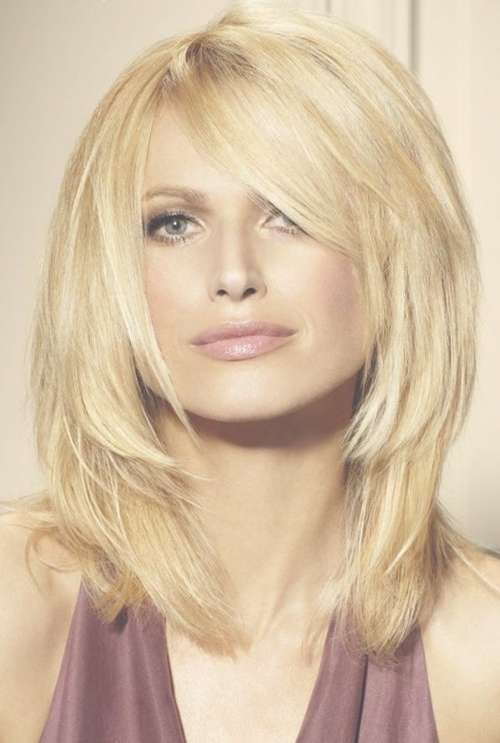 Layered Hairstyles With Bangs Within Most Popular Cute Medium Haircuts With Bangs And Layers (View 7 of 25)
