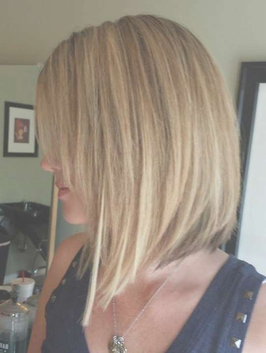 Layered Medium Inverted Bob For Fine Hair With Bangs – Google Intended For Most Current Inverted Medium Haircuts (View 11 of 25)