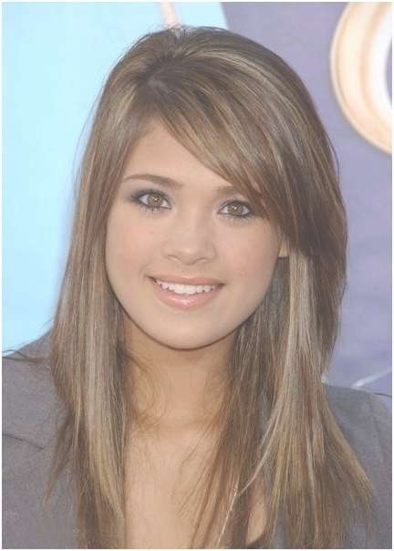 Light Brown Hair With Side Bangs: Long Hairstyles – Popular Haircuts Throughout Recent Medium Haircuts With Long Side Bangs (View 2 of 25)