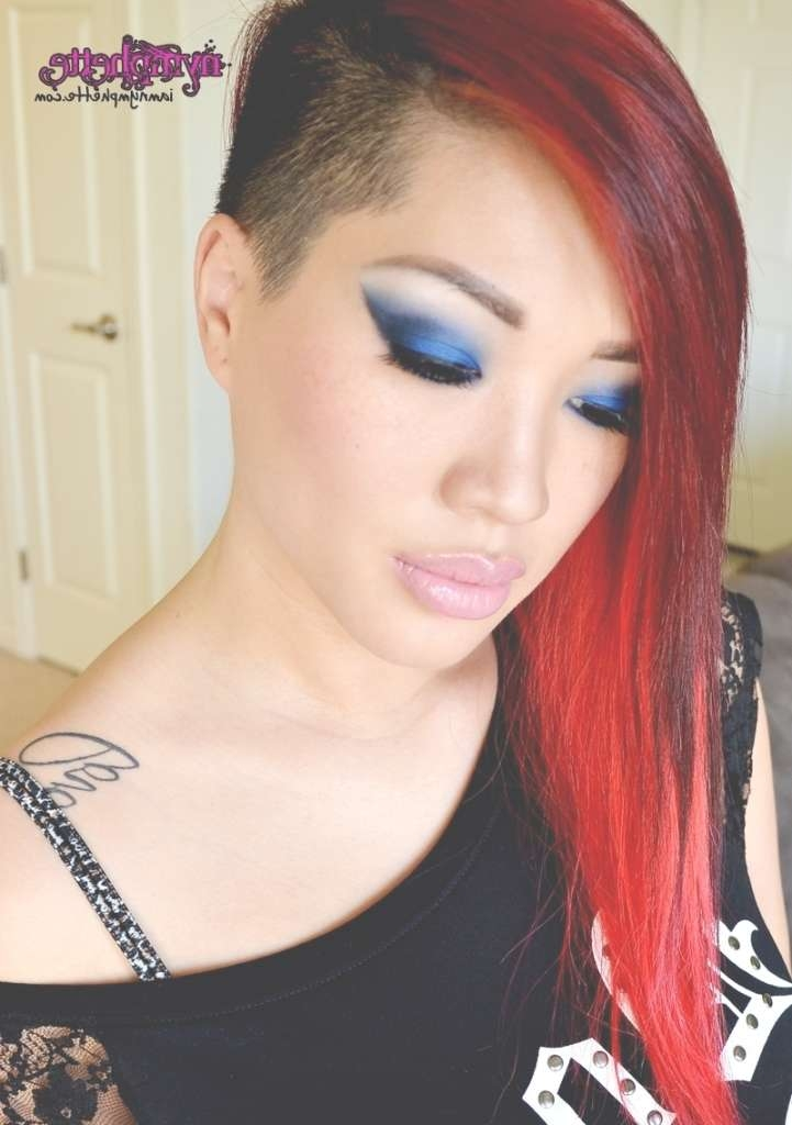 Long Hair Shaved Sides Hairstyles Shaved Side Hairstyles Long Hair Inside Newest Medium Hairstyles With Shaved Sides For Women (View 10 of 15)
