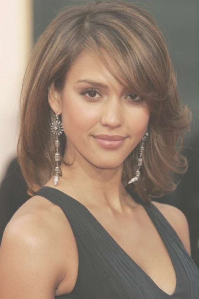 Long Haircuts Square Face Medium Length Hairstyles For Round Faces Pertaining To Newest Trendy Medium Haircuts For Round Faces (View 16 of 25)
