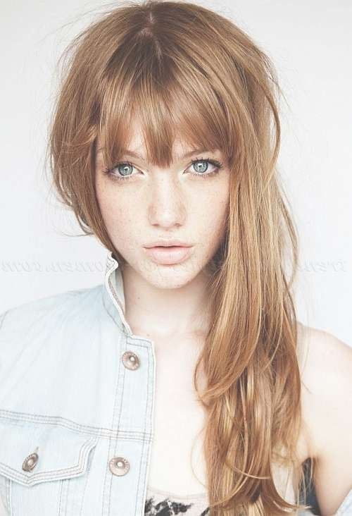 Featured Photo of Long Bangs Hairstyles Long Hair
