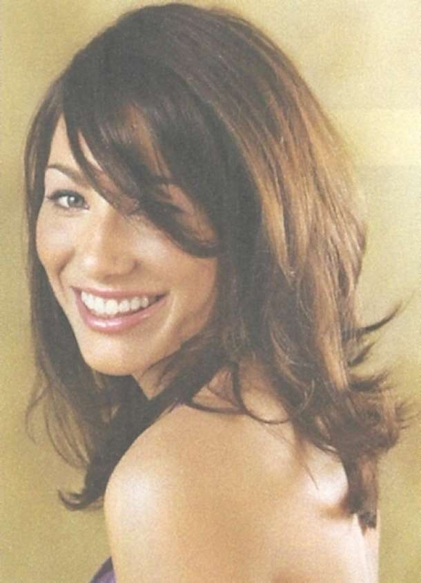 View Gallery Of Medium Haircuts Layers And Side Bangs Showing 12 Of