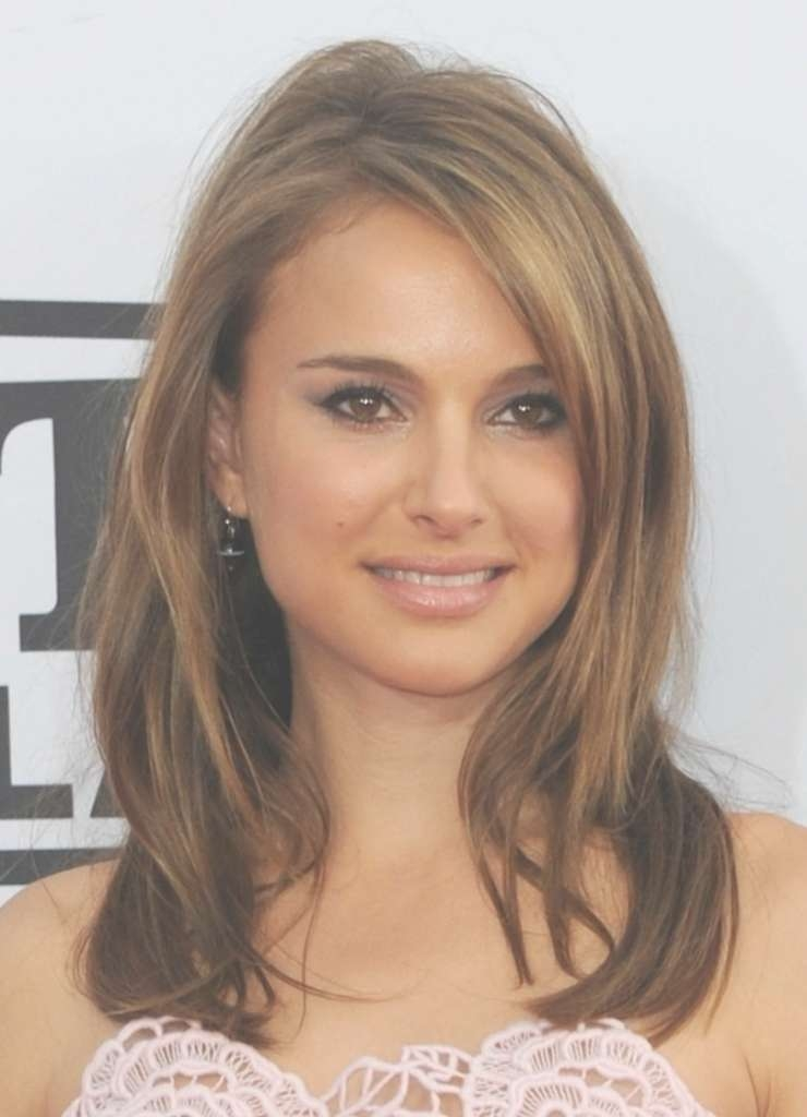 View Gallery Of Medium Hairstyles With Side Swept Bangs And Layers
