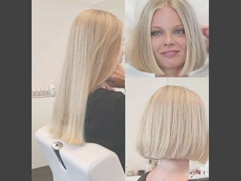 Long To Bob Makeover (Lady Got Her Long Hair Cut Short) – Youtube Throughout Bob Haircuts Makeover (View 16 of 25)
