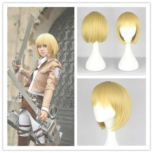 Mcoser New Bob Hairstyle Anime Cosplay Attack On Titan Armin Inside Anime Bob Haircuts (View 17 of 25)