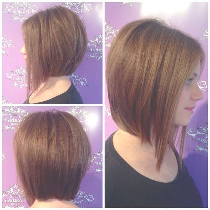Medium A Line Bob Hairstyle Pictures With Regard To Line Bob Haircuts (View 16 of 25)
