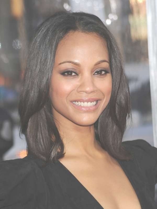 Medium Black Women Hairstyles Regarding Best And Newest Medium Hairstyles For African American Hair (View 3 of 15)