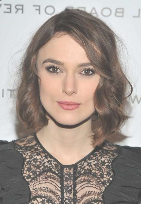 Medium Bob Hairstyle With Curls – Keira Knightley Hairstyles For Most Current Keira Knightley Medium Haircuts (View 12 of 25)
