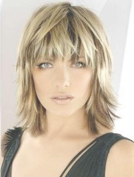 Medium Choppy Haircuts | Blonde Medium Length Choppy Shag Haircut Intended For Latest Wispy Medium Haircuts (View 5 of 25)