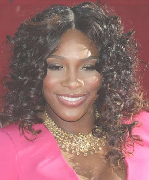 Medium Curly Hairstyle For Black Women – Hairstyles Weekly Inside Most Up To Date Black Woman Medium Haircuts (View 23 of 25)