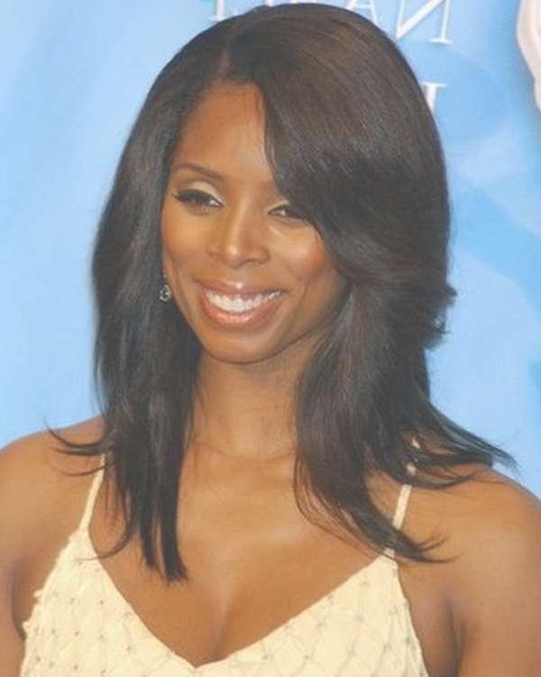 Medium Haircut For Black Women Intended For Most Popular Medium Haircuts For Black Hair (View 19 of 25)