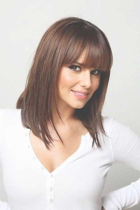 Medium Haircut Styles With Bangs Best 25 Medium Haircuts With Within Most Recent Medium Haircuts With Fringe (View 15 of 25)