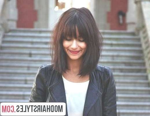 View Gallery Of Medium Hairstyles With Bangs For Round Face Showing